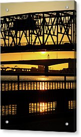 Sunset Bridge 2 Acrylic Print by Arthur Dodd