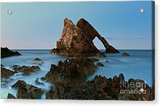 Sunset By Bow Fiddle Rock Acrylic Print by Maria Gaellman