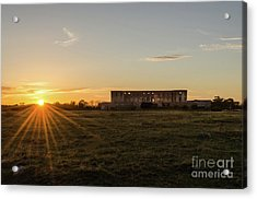 Acrylic Print featuring the photograph Sunset By Old Castle Ruin by Kennerth and Birgitta Kullman