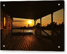 Acrylic Print featuring the photograph Sunset By The Beach by Angel Cher