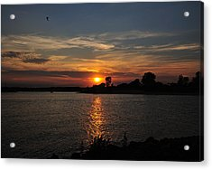 Acrylic Print featuring the photograph Sunset By The Inlet by Angel Cher