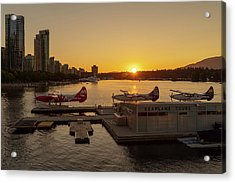 Sunset By The Seaplanes Acrylic Print