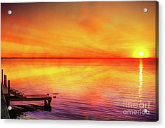 Acrylic Print featuring the digital art Sunset By The Shore by Randy Steele