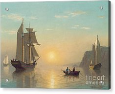Sunset Calm In The Bay Of Fundy Acrylic Print by William Bradford