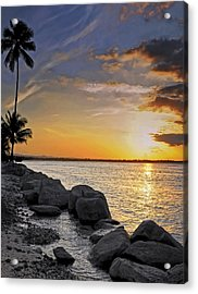 Sunset Caribe Acrylic Print by Stephen Anderson