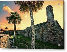 Sunset Castillo De San Marcos Acrylic Print