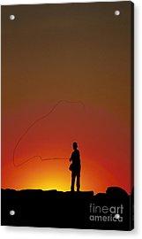Sunset Casting Acrylic Print