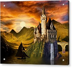 Sunset Castle Acrylic Print