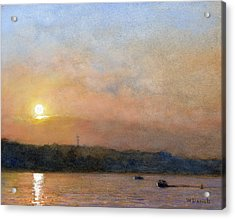 Sunset- Cazenovia Lake Acrylic Print by Wayne Daniels