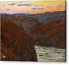 Sunset Acrylic Print by Claude Monet