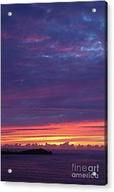 Acrylic Print featuring the photograph Sunset Clouds In Newquay, Uk by Nicholas Burningham