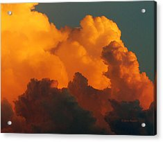 Acrylic Print featuring the digital art Sunset Clouds by Jana Russon
