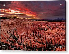 Sunset Clouds Over Bryce Canyon Acrylic Print