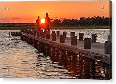 Sunset Couple Acrylic Print by Kristopher Schoenleber