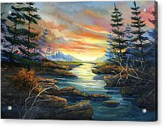 Sunset Creek Acrylic Print by Brooke Lyman