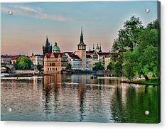 Sunset Cruise Prague Acrylic Print
