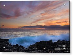 Sunset Curl Acrylic Print by Mike Dawson
