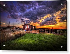 Sunset Dairy Acrylic Print by Marvin Spates