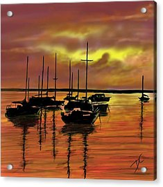 Acrylic Print featuring the digital art Sunset by Darren Cannell