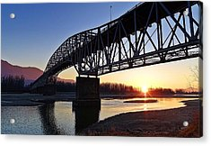 Fraser River, Bc  Acrylic Print by Heather Vopni