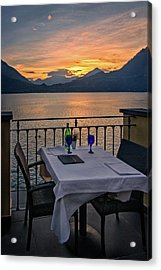 Sunset Dining Acrylic Print
