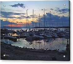 Acrylic Print featuring the photograph Sunset Dock by Felipe Adan Lerma