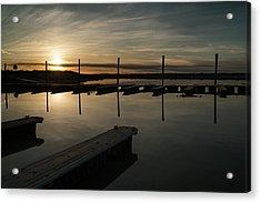 Sunset Docks Acrylic Print by Justin Johnson