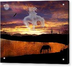 Sunset Dreams Acrylic Print by Nadene Merkitch