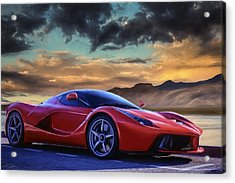 Sunset Drive Acrylic Print by Peter Chilelli