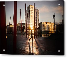 Sunset - Dublin, Ireland - Color Street Photography Acrylic Print by Giuseppe Milo