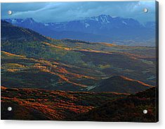 Acrylic Print featuring the photograph Sunset During Autumn Below The San Juan Mountains In Colorado by Jetson Nguyen