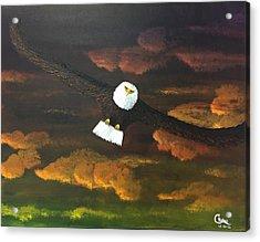 Sunset Eagle Acrylic Print