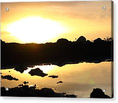 Sunset Acrylic Print by Edan Chapman