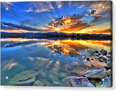 Sunset Explosion Acrylic Print by Scott Mahon
