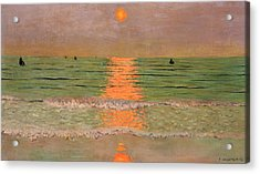 Sunset Acrylic Print by Felix Edouard Vallotton