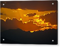 Sunset Fire Acrylic Print by Colleen Coccia