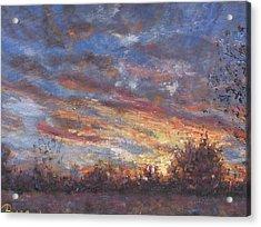 Sunset Fires Acrylic Print by Horacio Prada