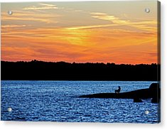 Sunset Fisherman  Acrylic Print