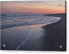 Acrylic Print featuring the photograph Sunset Fishing Seaside Park Nj by Terry DeLuco