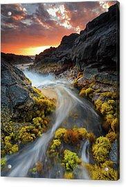 Sunset Flow Acrylic Print