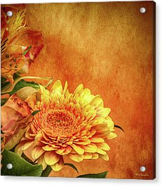 Sunset Flowers Acrylic Print