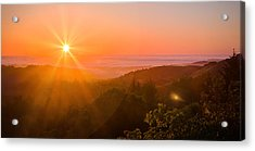 Sunset Fog Over The Pacific #1 Acrylic Print