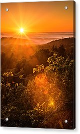 Sunset Fog Over The Pacific #2 Acrylic Print