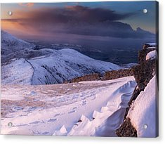 Sunset Following The Mourne Wall Acrylic Print