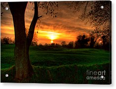Sunset For The Past Acrylic Print by Kim Shatwell-Irishphotographer