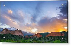 Acrylic Print featuring the photograph Sunset Forever by Tim Reaves