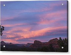 Sunset From Bell Rock Trail Acrylic Print