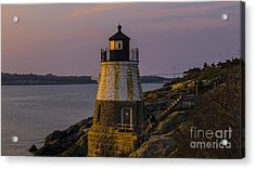 Sunset From Castle Hill Lighthouse. Acrylic Print