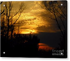 Sunset From Farm Acrylic Print