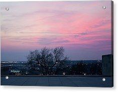 Sunset From Liberty Memorial Acrylic Print